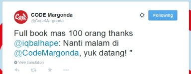 twit @CodeMargonda